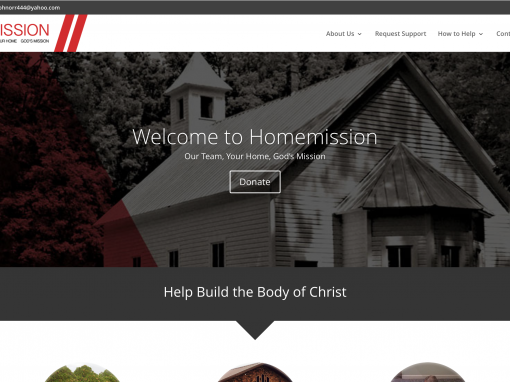 Homemission Website