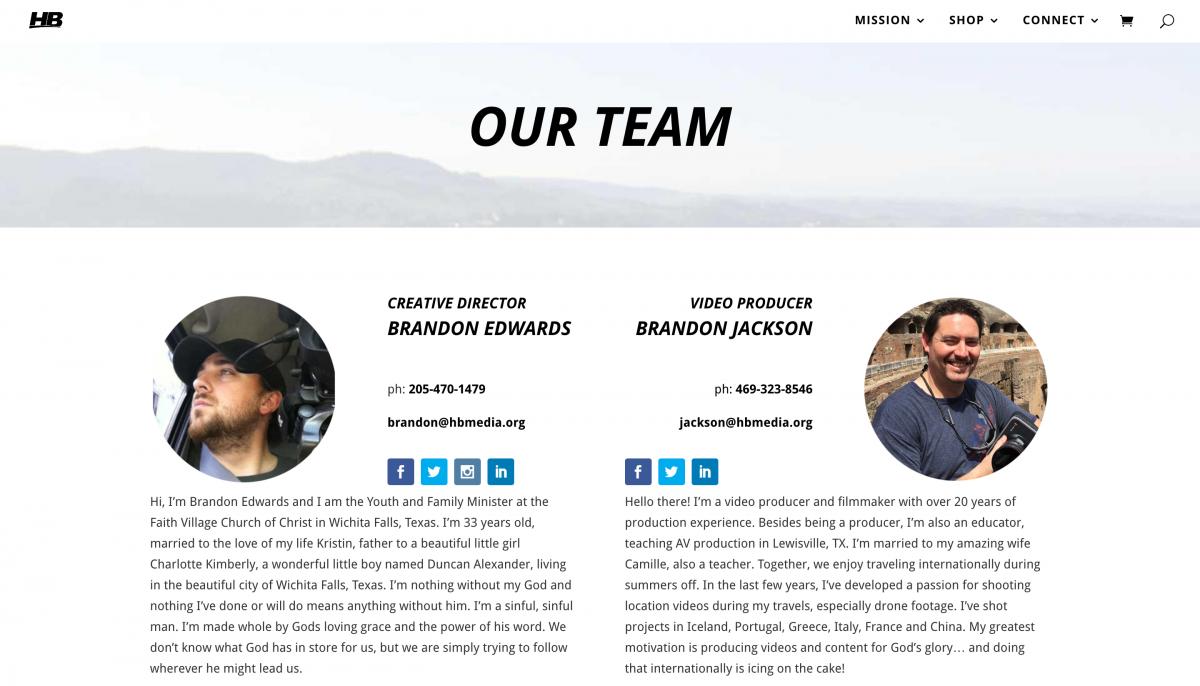Hidden Bridge Media Website